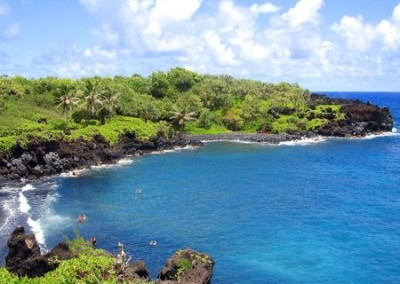 hana black sand beach