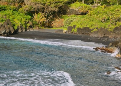 hana black sand beaches