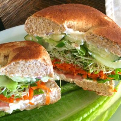 Hana Headquarters bagel sandwich paia maui